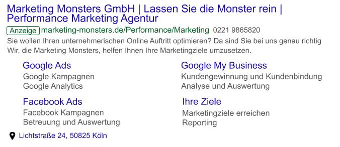 Google Ads - Textanzeige - Beispiel