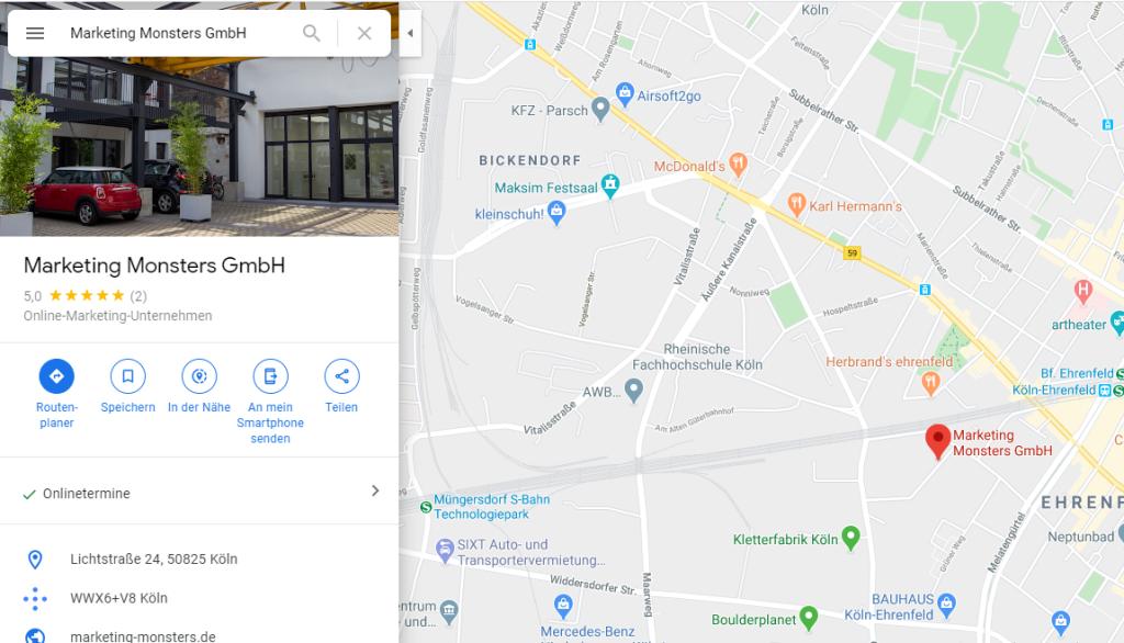 google my business beispiel 2