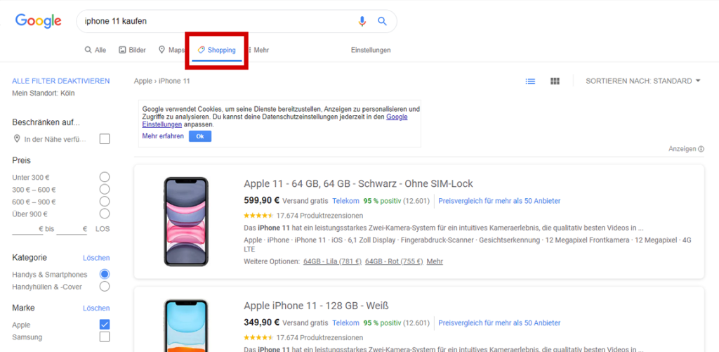 google shopping ads beispiel 2