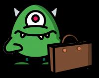 Standard Monster mit Koffer