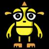 Snapchat Monster in gelb
